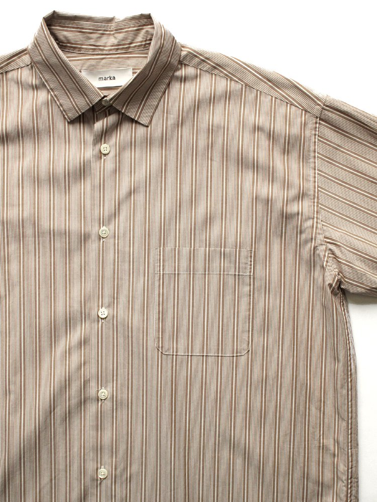 WIDE COLLAR SHIRTS #BROWN