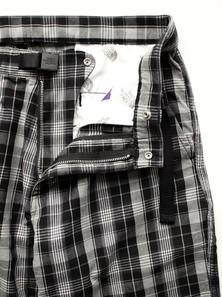 Twill Check Wide Field Pants #Black