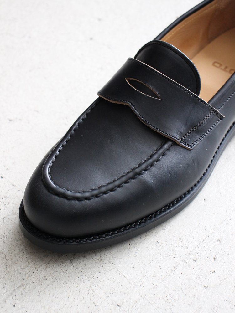 Coin loafer Chrome Excel 2502 #BLACK