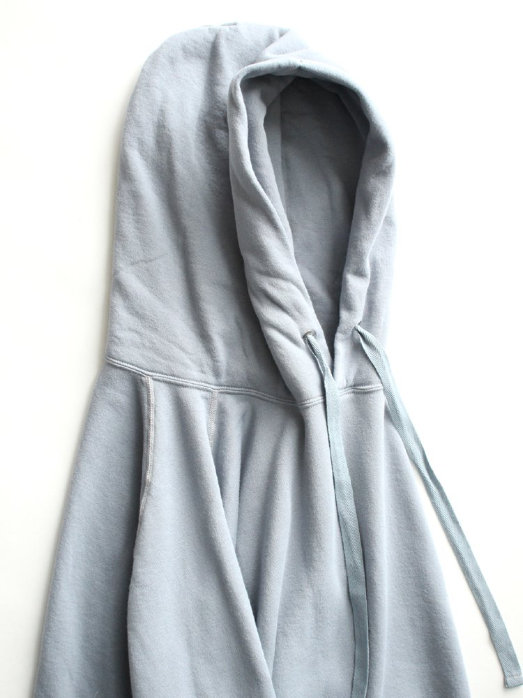 ONE SIDE RAGLAN PARKA #BLUE GRAY