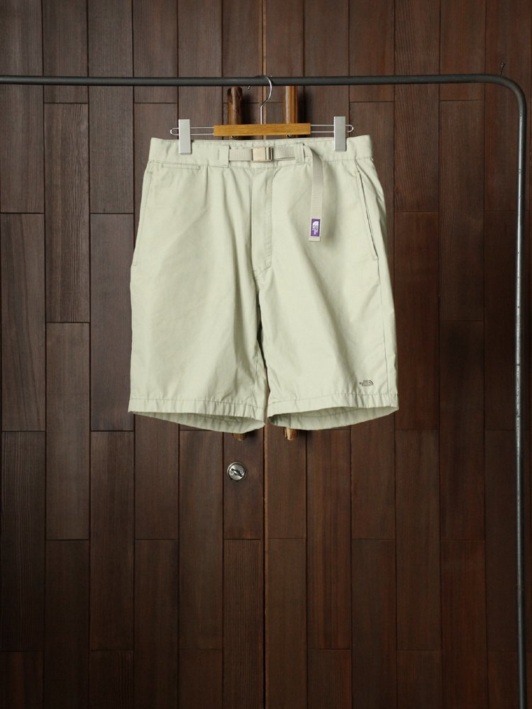 THE NORTH FACE PURPLE LABEL|65/35 Washed Field Shorts With Belt #Beige