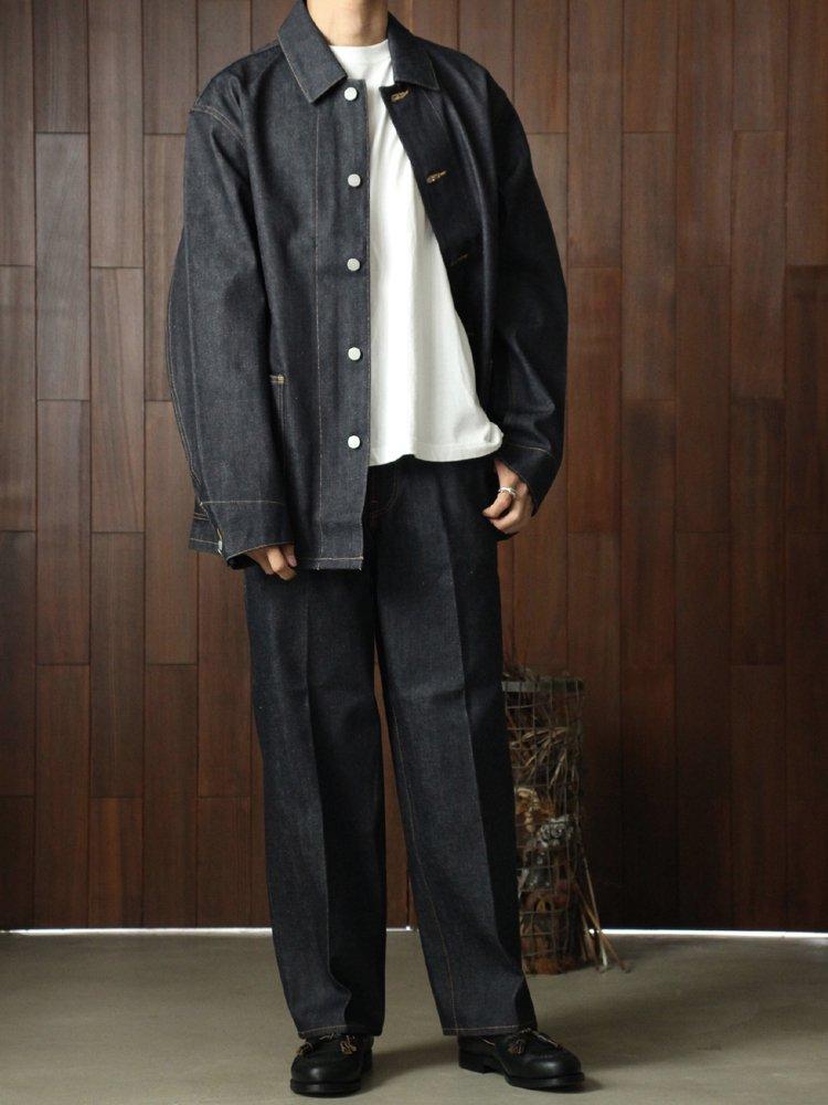 Straight Fit Creased Jeans #Indigo