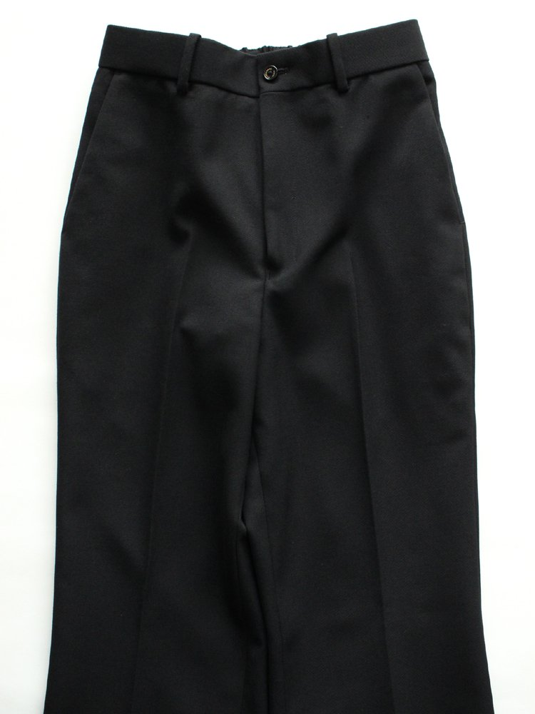 STRAIGHT FIT TROUSERS #BLACK