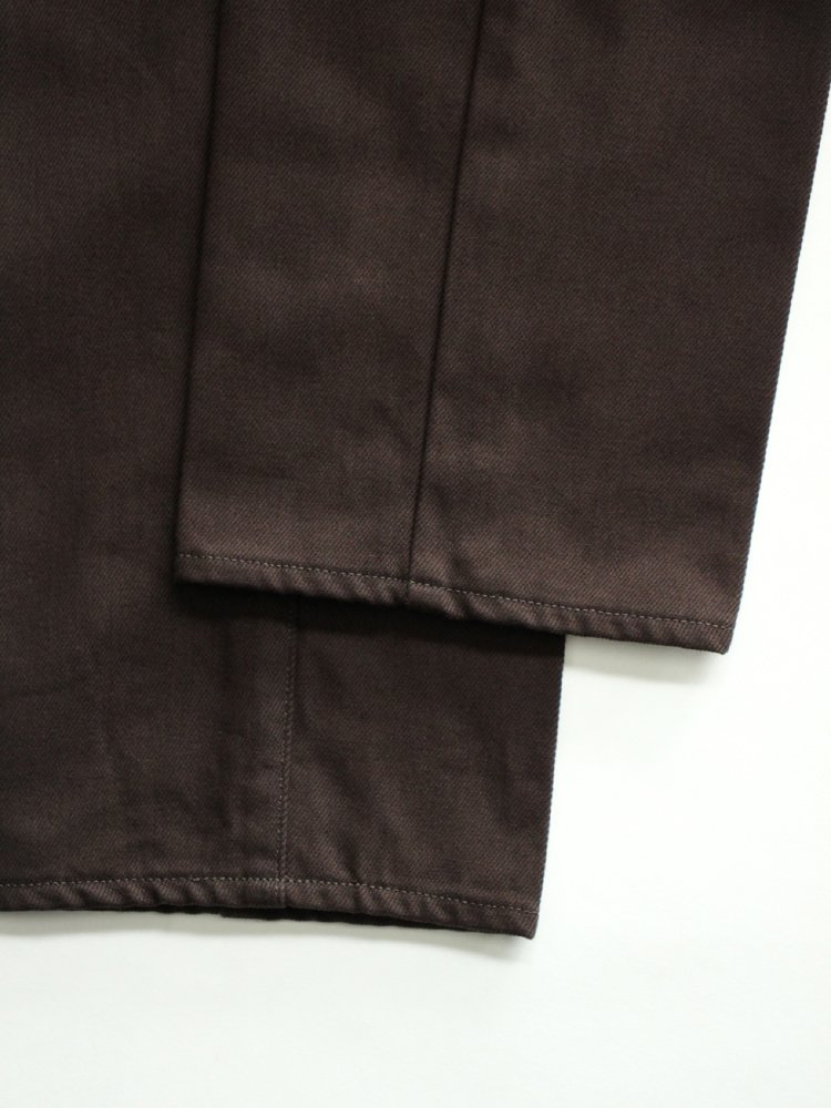 WORKADAY 5POCKET TROUSERS #D.BROWN