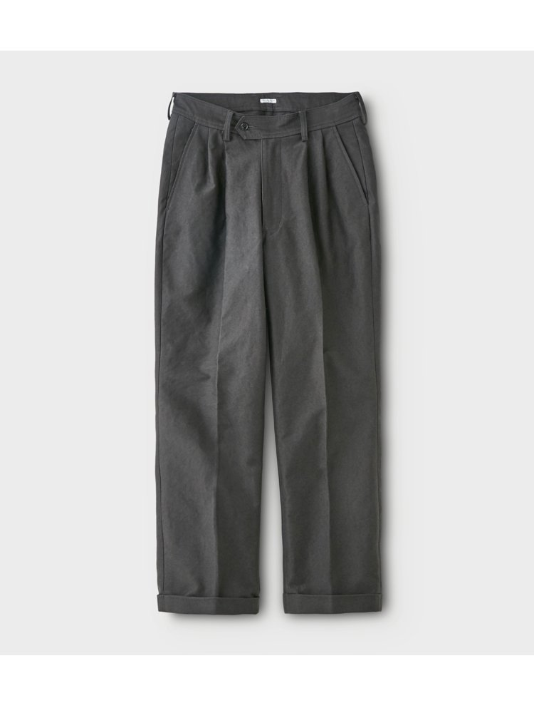 MOLESKIN 2TUCK TROUSERS #SEPIA BROWN<img class='new_mark_img2' src='https://img.shop-pro.jp/img/new/icons22.gif' style='border:none;display:inline;margin:0px;padding:0px;width:auto;' />