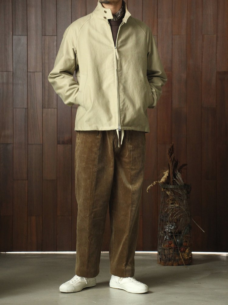 CORDUROY WIDE TROUSERS #KHAKI BROWN