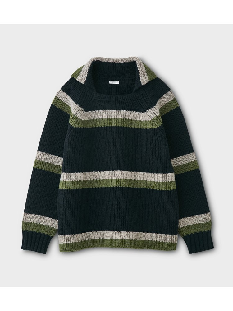 PHIGVEL MAKERS & Co.|OLD BORDER KNIT #D.NAVY