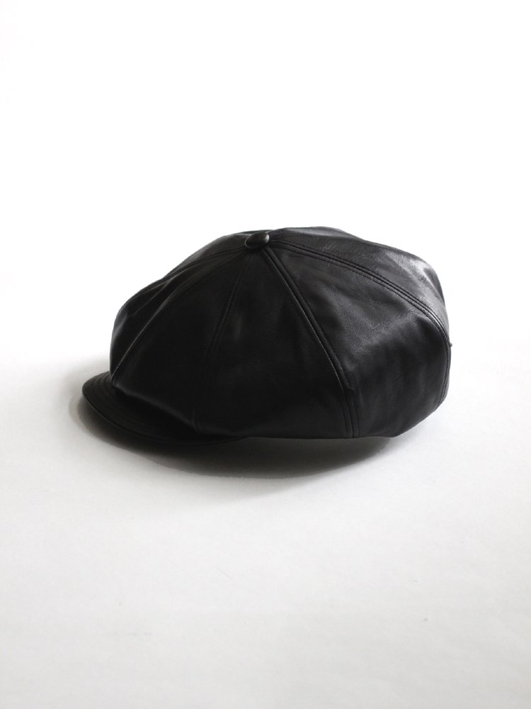 SOLARIS HATMAKERS & Co.|CLASSIC HORSE HIDE CASQUETTE OLDBOY #BLACK
