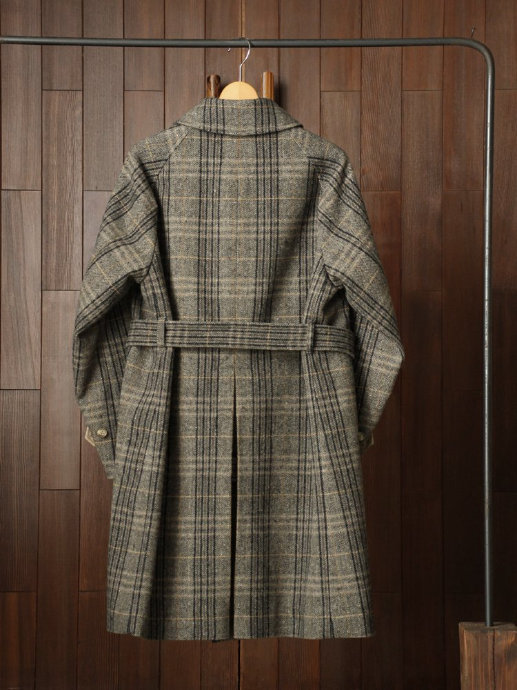 BELTED BAL COLLAR COAT #CHARCOAL HBT<img class='new_mark_img2' src='https://img.shop-pro.jp/img/new/icons22.gif' style='border:none;display:inline;margin:0px;padding:0px;width:auto;' />