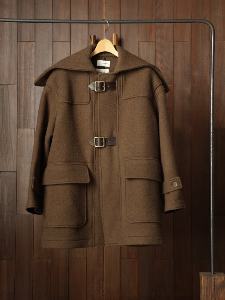 MARKAWARE|SHORTBELTED DUFFLE COAT #OLIVE BROWN