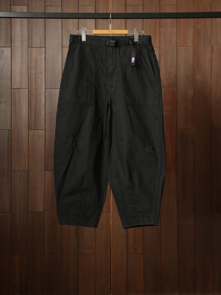 THE NORTH FACE PURPLE LABEL|Herringbone Twill Wide Cropped Pants #Black