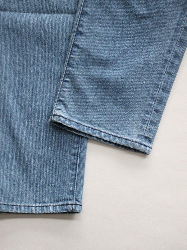 Webbing Belt Denim Pants #Indigo Bleach