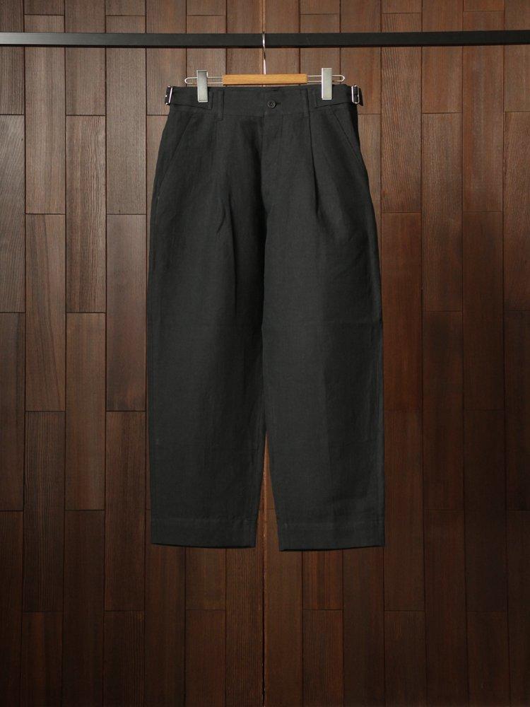 Phlannel|LinenCottonWoolTwill ItalianArmyTrousers #Charcoal Black