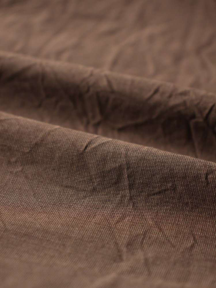 REGULAR COLLAR DRESS SHIRT #SEPIA BROWN