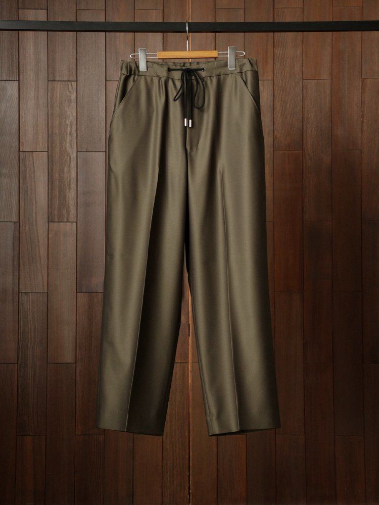 THE RERACS|RERACS WIDE EASY SLACKS #KHAKI