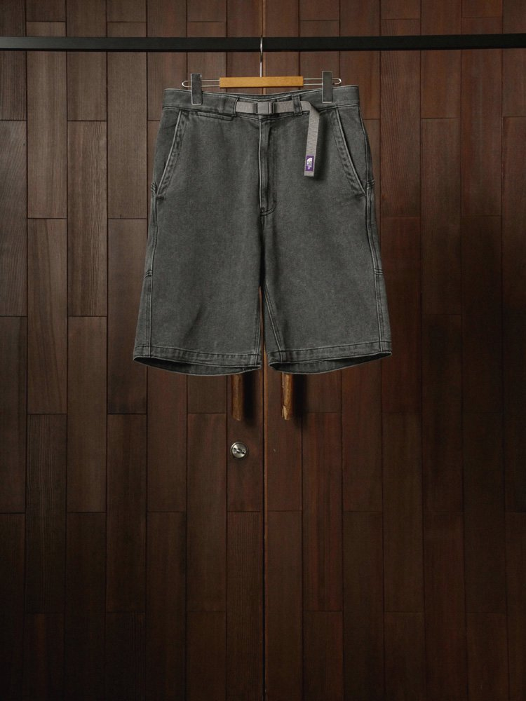 THE NORTH FACE PURPLE LABEL|Denim Field Shorts #Black Bleach