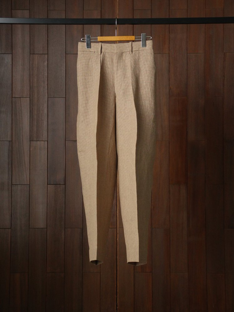 MARKAWARE|CLASSIC FIT TROUSERS #BROWN