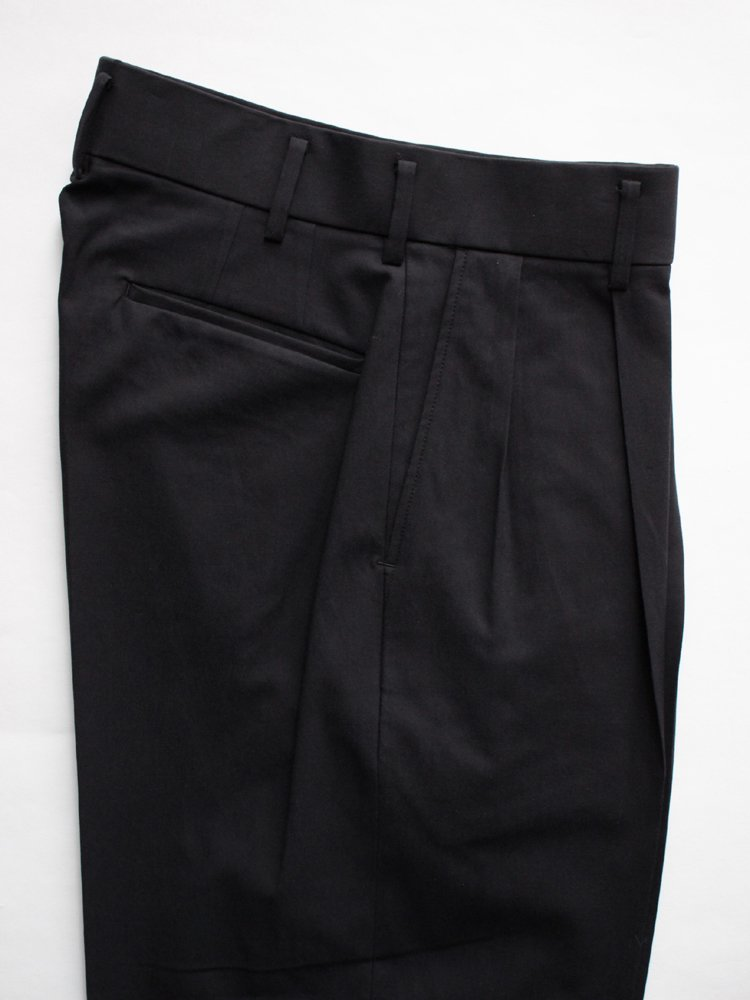 DOUBLE PLEATED TROUSERS #BLACK