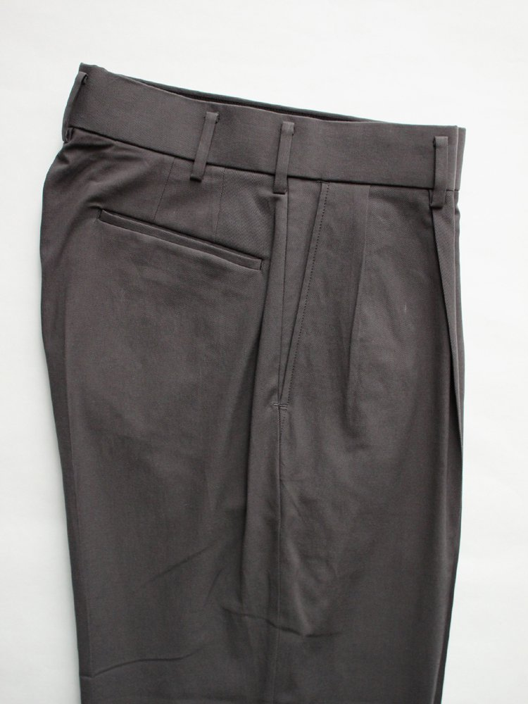 DOUBLE PLEATED TROUSERS #CHARCOAL