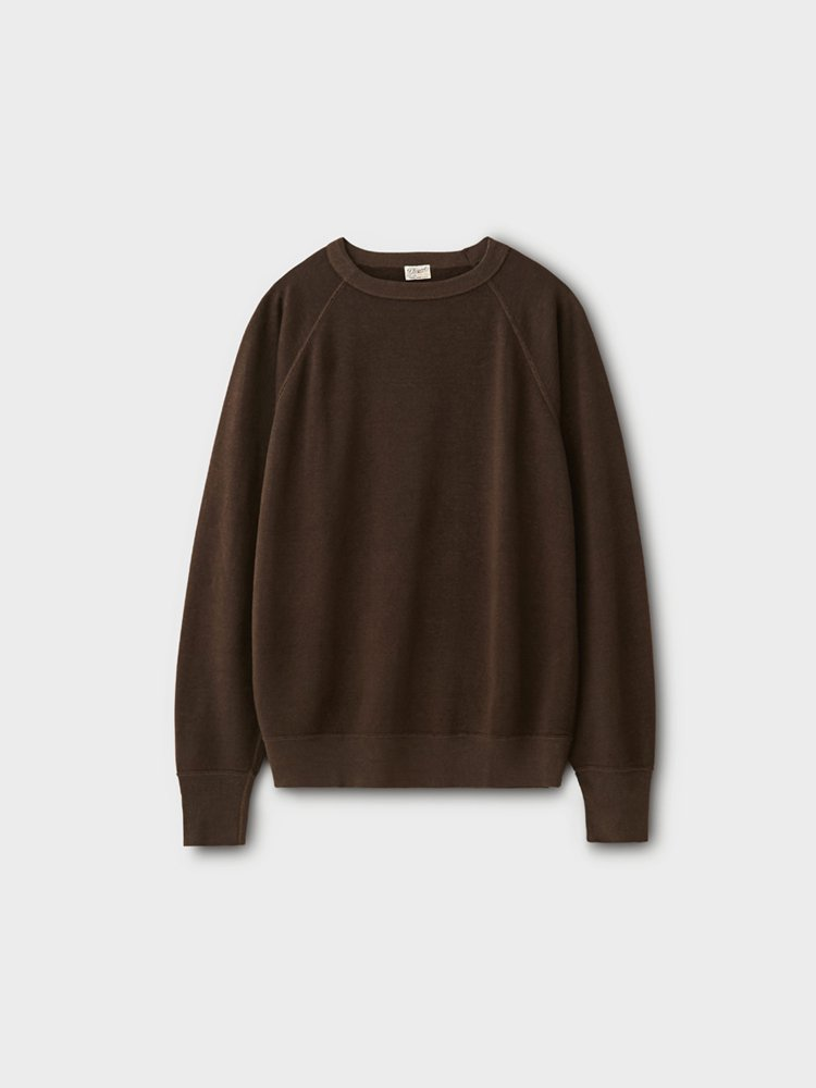 PHIGVEL MAKERS & Co.|LINEN LS SWEAT #SEPIA BROWN