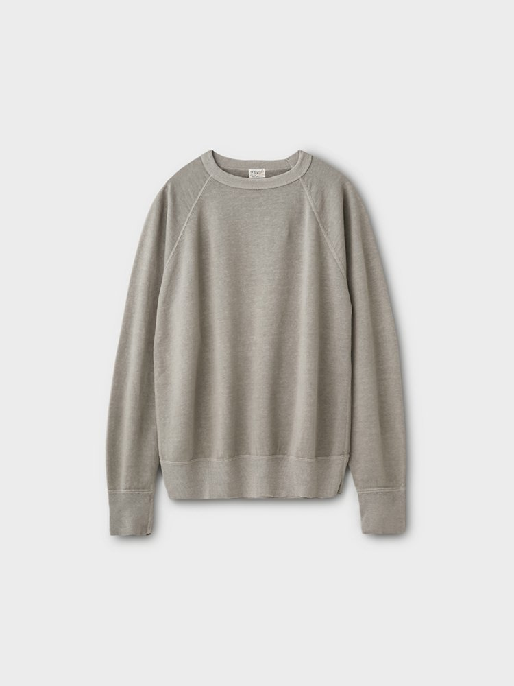 PHIGVEL MAKERS & Co.|LINEN LS SWEAT #TAUPE GRAY
