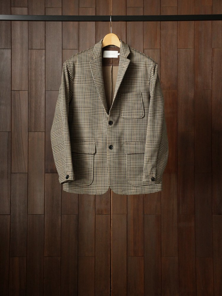 CURLY|BLEECKER JACKET Check #BEIGE CHECK