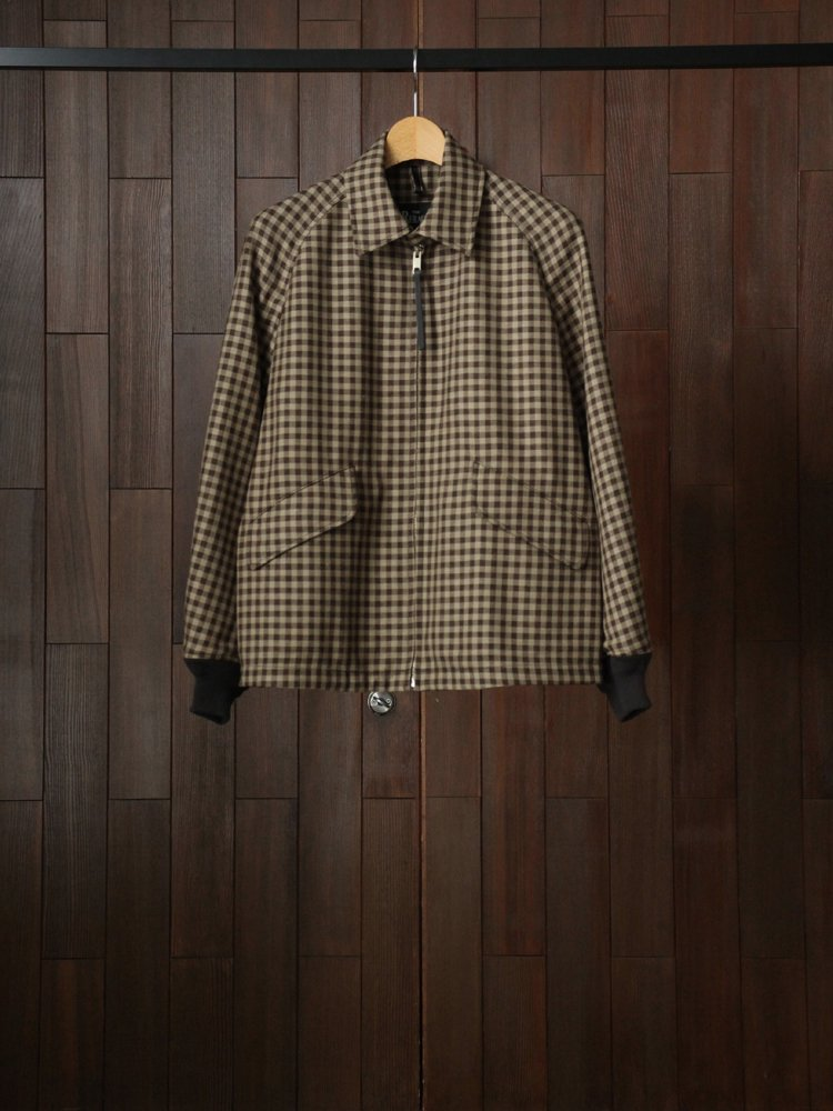 THE RERACS|RERACS SWING TOP #BEIGE BROWNCHECK