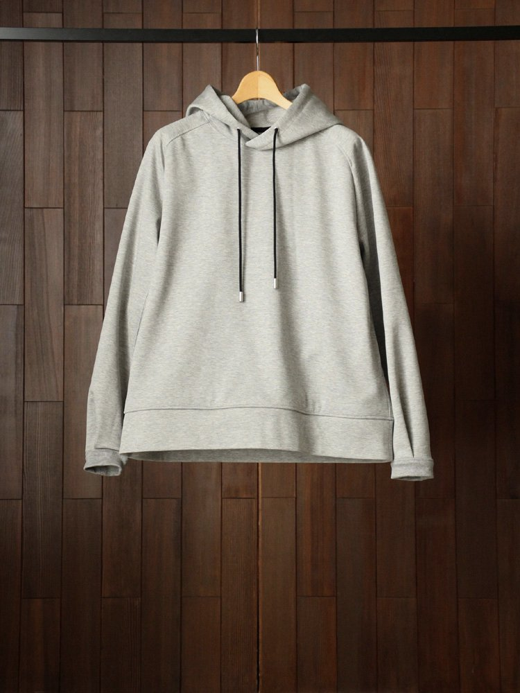 THE RERACS|RERACS HODDED PULLOVER #TOP GRAY