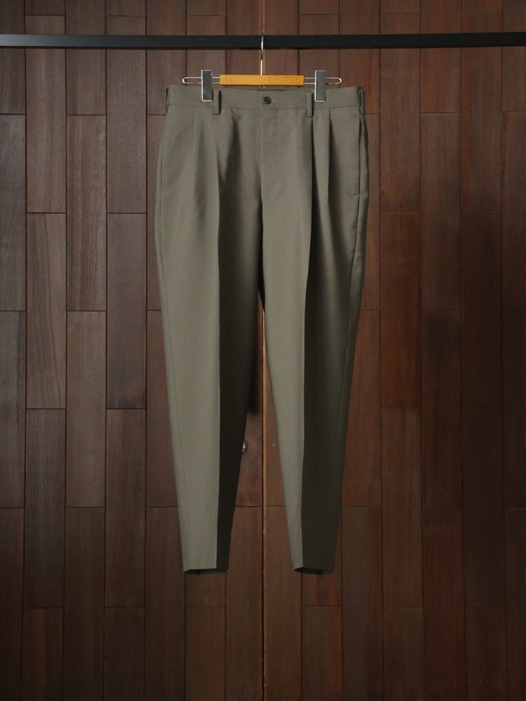 marka|2TUCK COCOON FIT #OLIVE GRAY