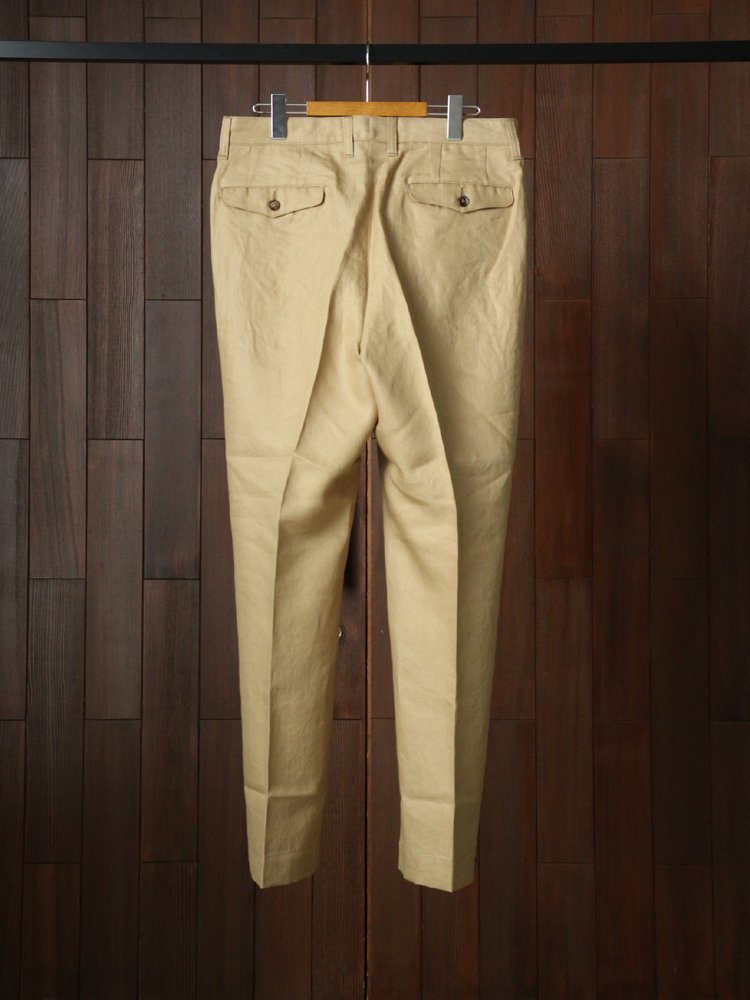 LINEN PIN TUCK TROUSERS #BEIGE<img class='new_mark_img2' src='https://img.shop-pro.jp/img/new/icons22.gif' style='border:none;display:inline;margin:0px;padding:0px;width:auto;' />