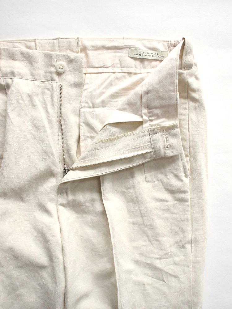 FRONT TUCK ARMY TROUSER #NATURAL