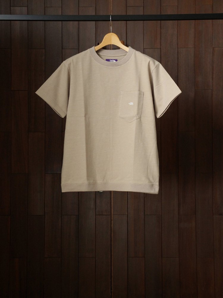 THE NORTH FACE PURPLE LABEL|High Bulky H/S Pocket Tee #Beige