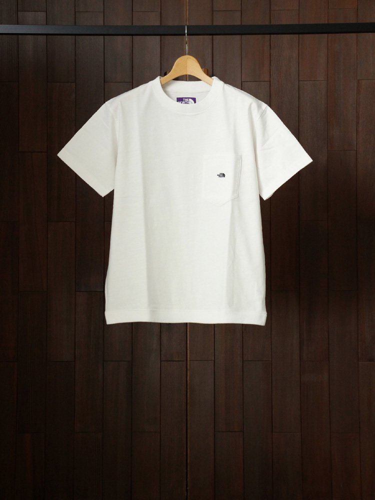 THE NORTH FACE PURPLE LABEL|High Bulky H/S Pocket Tee #White