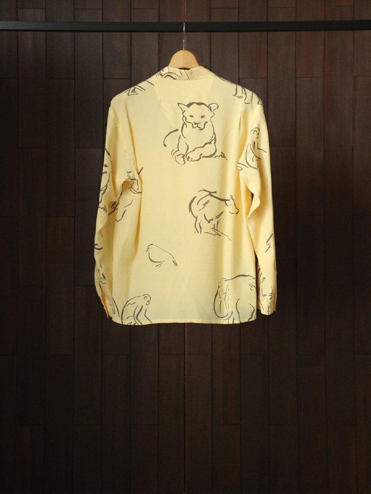 OPEN COLLAR SHIRTS (DRAWING long sleeve) #CITRINE