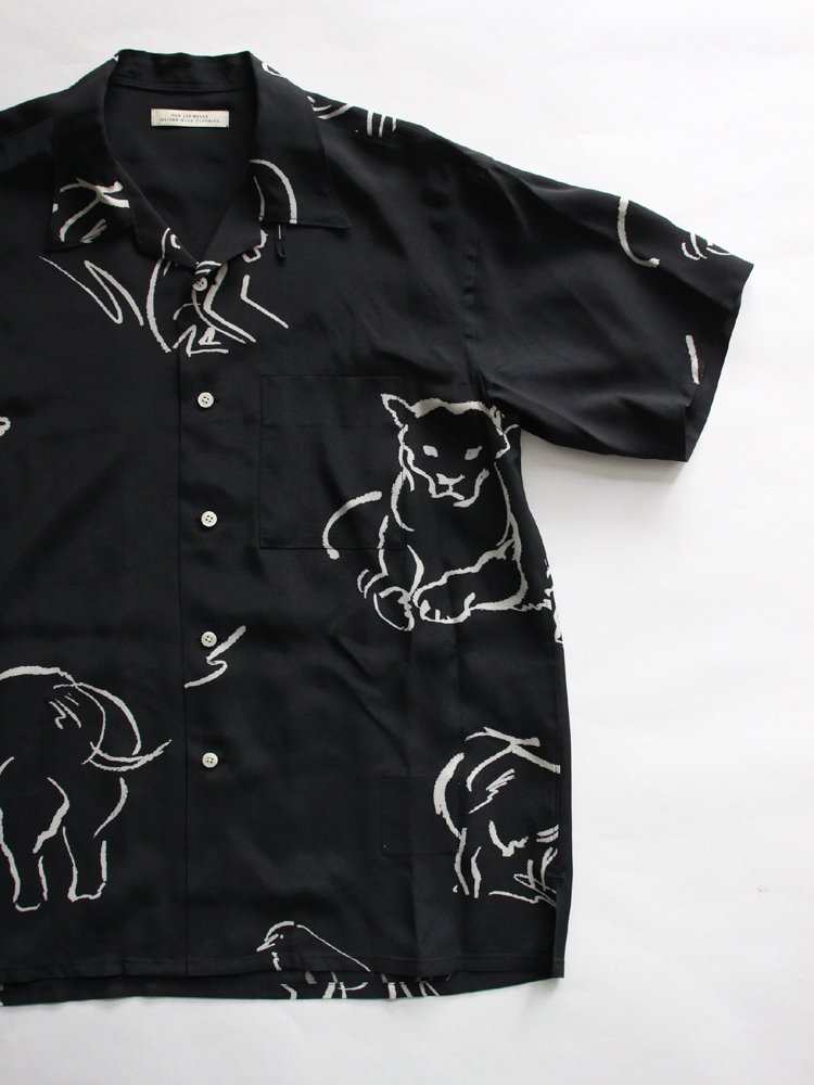 OPEN COLLAR SHIRTS_DRAWING short sleeve #GRAPHITE
