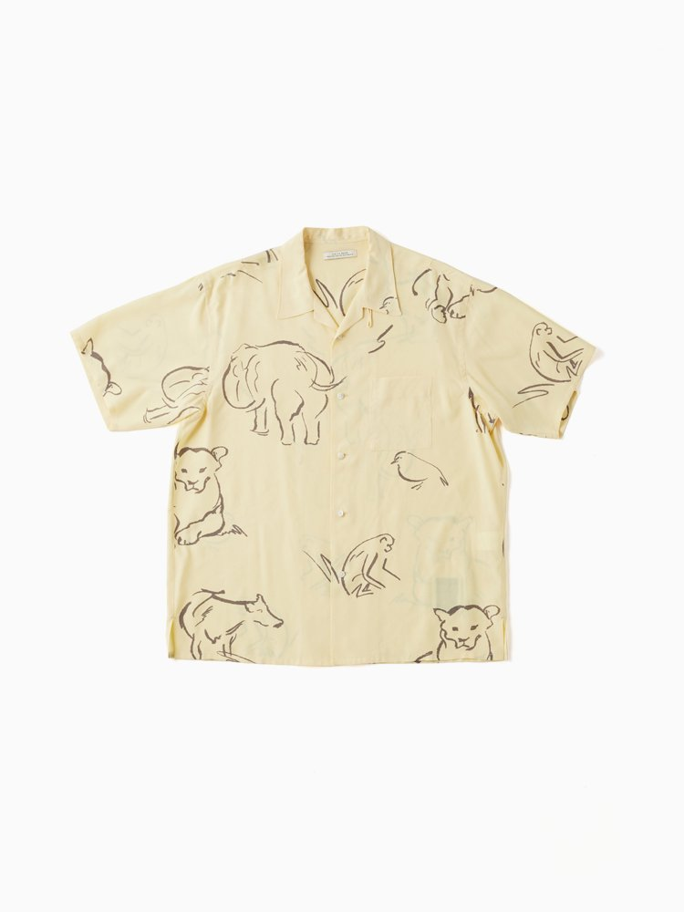 OLD JOE BRAND|OPEN COLLAR SHIRTS(DRAWING short sleeve) #CITRINE