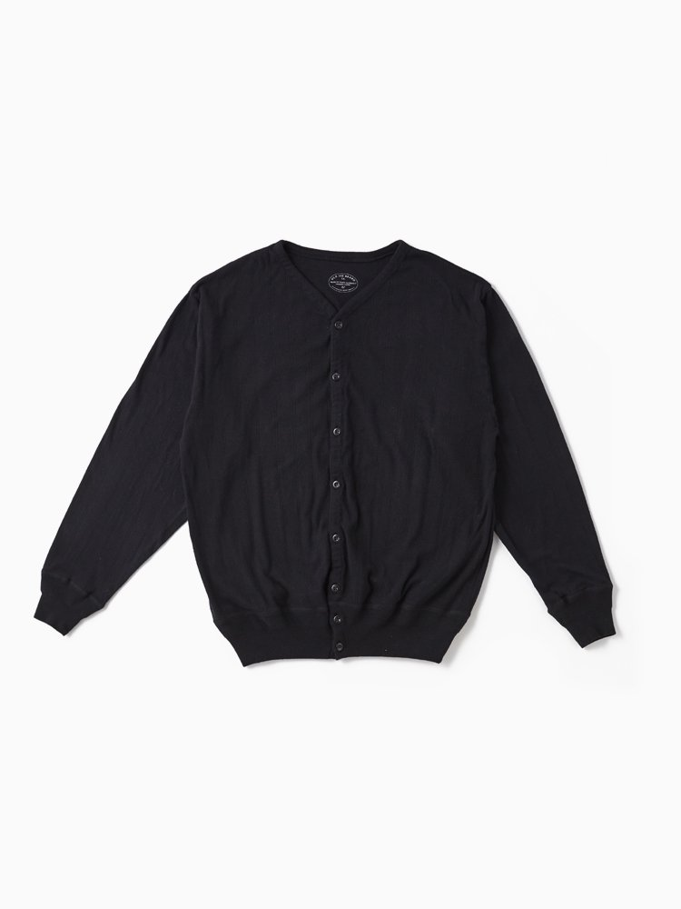 OLD JOE BRAND|RIBBED OPEN-FRONT SHIRTS #BLACK