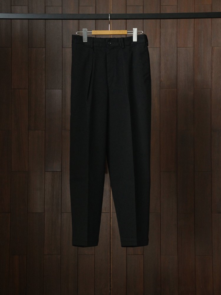 MARKAWARE|COTTON TWILL / CLASSIC FIT TROUSERS #BLACK