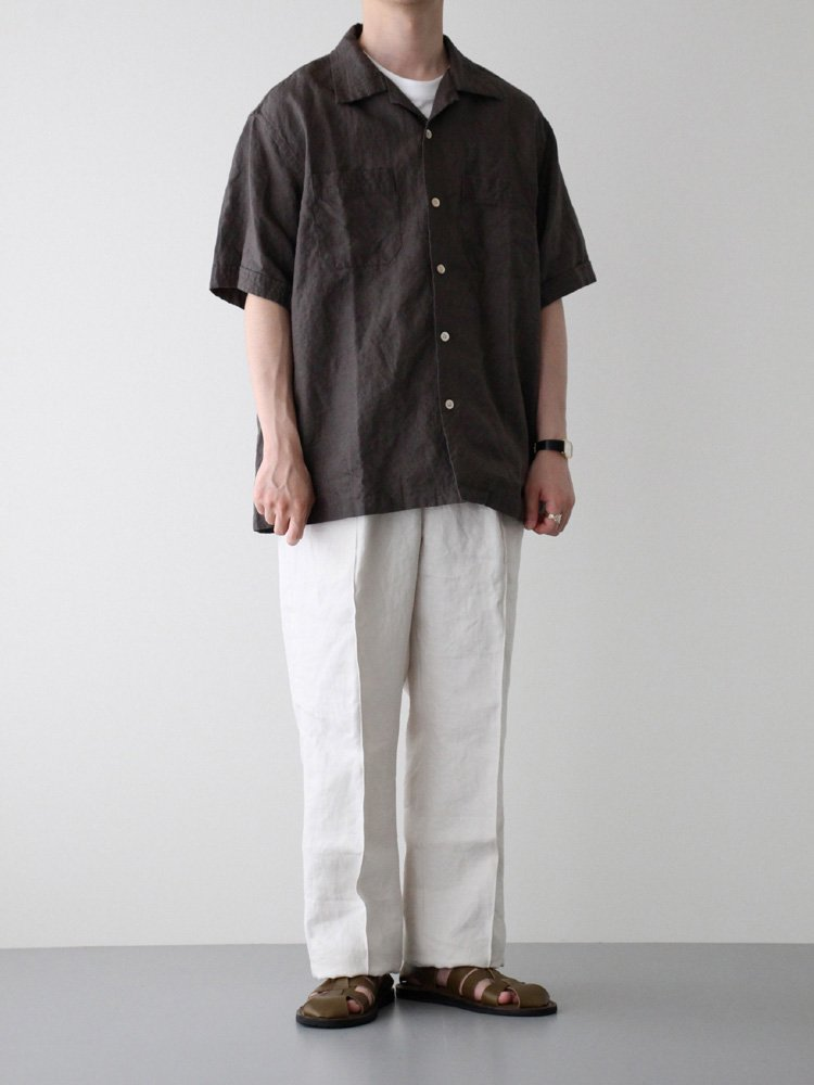 LINEN SAFARI SS SHIRT #SEPIA GRAY<img class='new_mark_img2' src='https://img.shop-pro.jp/img/new/icons22.gif' style='border:none;display:inline;margin:0px;padding:0px;width:auto;' />