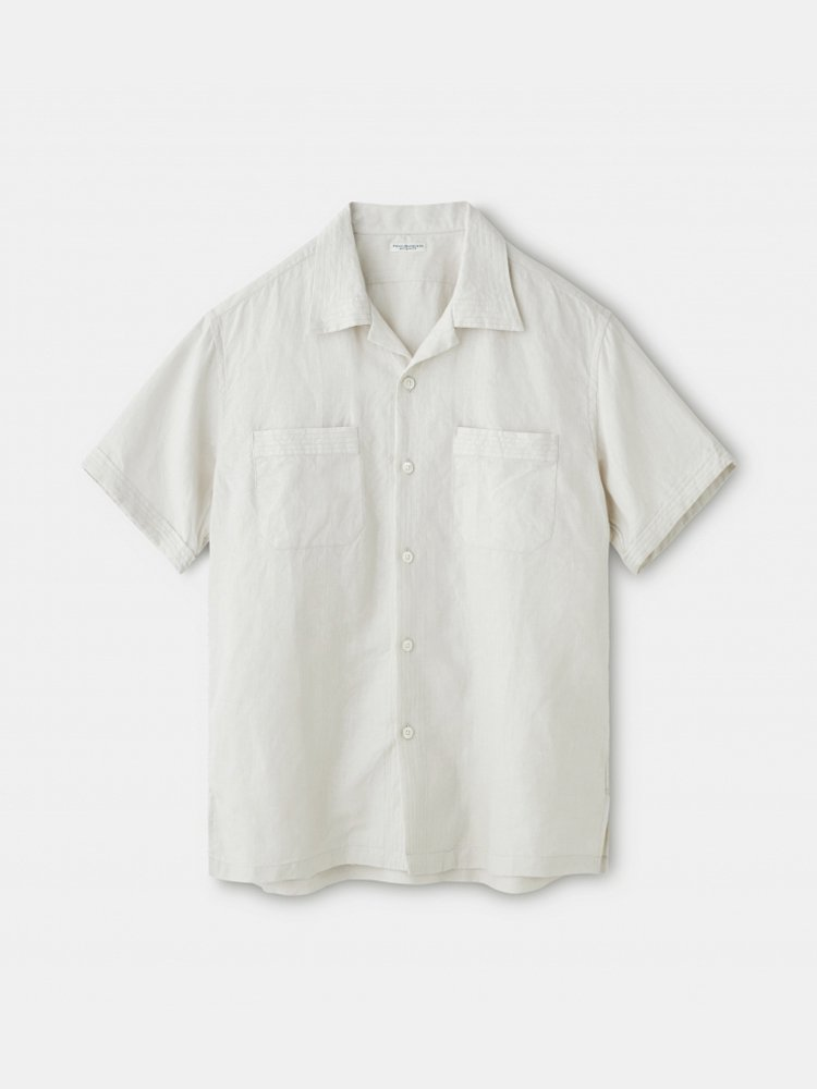 PHIGVEL MAKERS & Co.|LINEN SAFARI SS SHIRT #IVORY