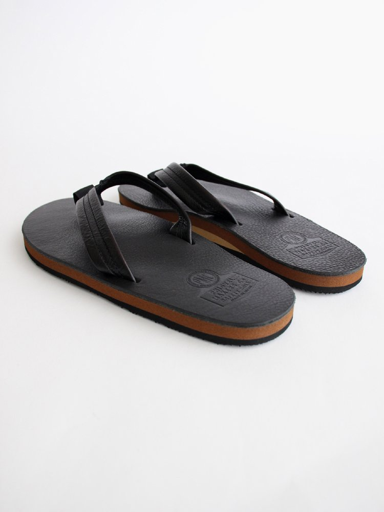 LEATHER BEACH SANDAL #BLACK