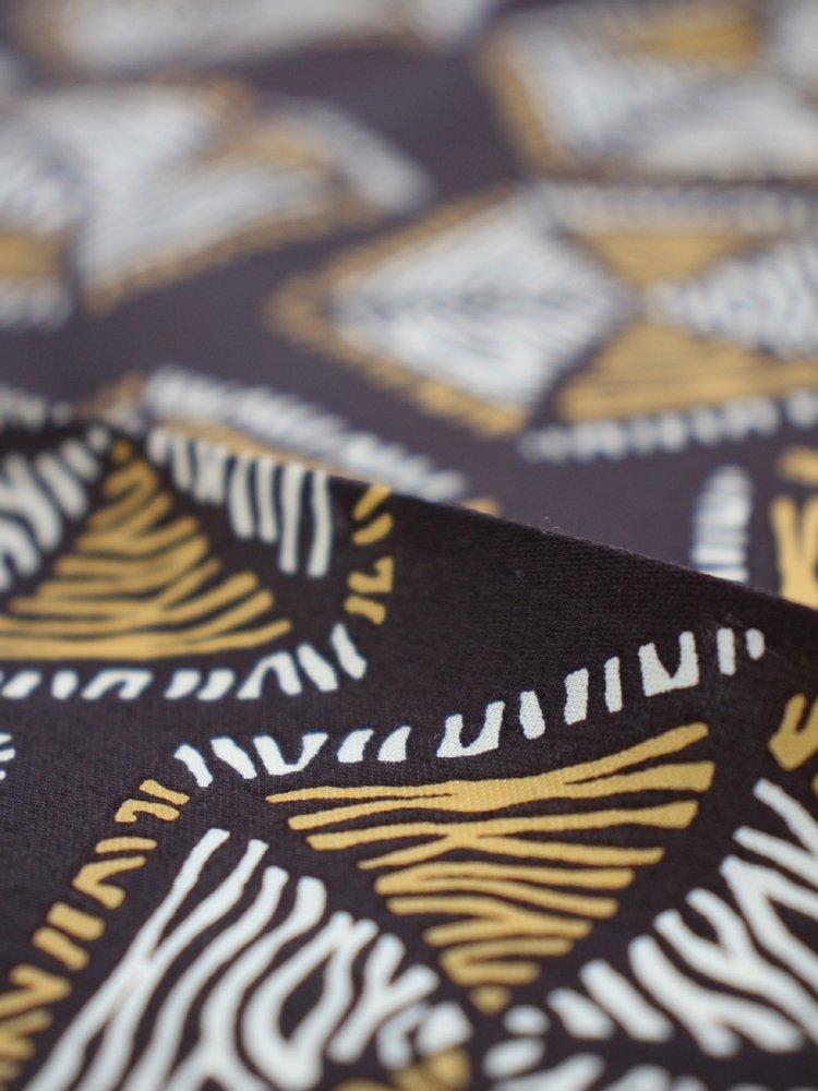 AFRICAN PATTERN HANDKERCHIEF #PURPLE BROWN