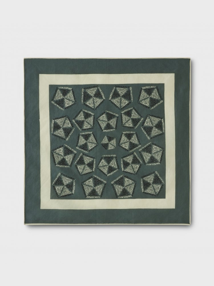 PHIGVEL MAKERS & Co.|AFRICAN PATTERN HANDKERCHIEF #FRENCH KHAKI