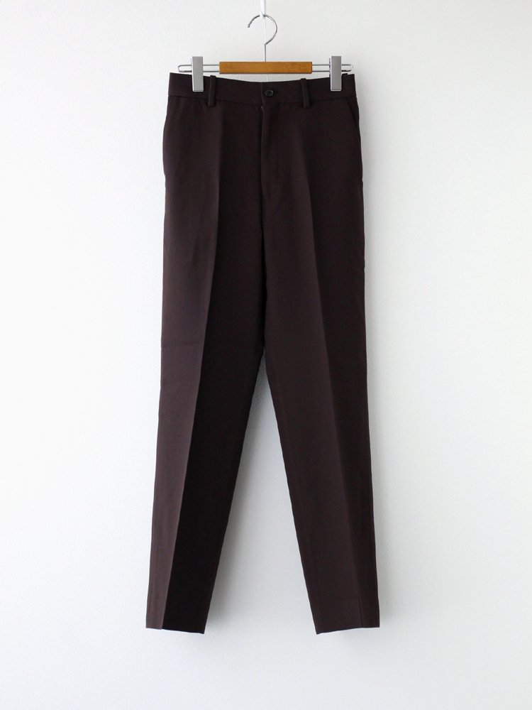 MARKAWARE|STRAIGHT FIT TROUSERS #DARK BROWN [A20C-03PT03C]