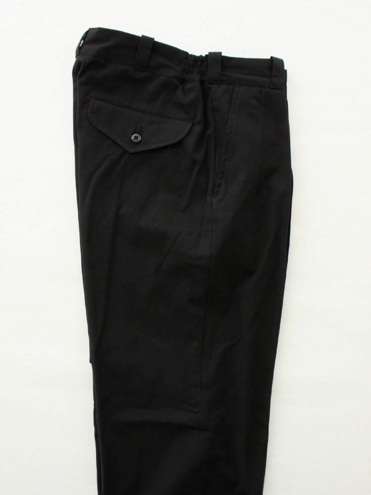FRONT TUCK ARMY TROUSER #BLACK [202OJ-PT05]