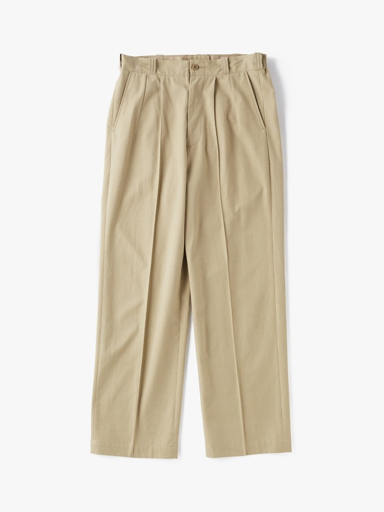 OLD JOE BRAND FRONT TUCK ARMY TROUSER #BISQUE [202OJ-PT05]