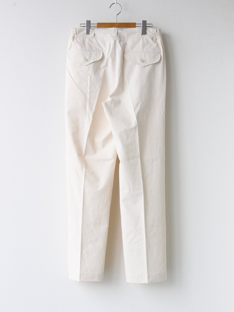 FRONT TUCK ARMY TROUSER #BONE [202OJ-PT05]
