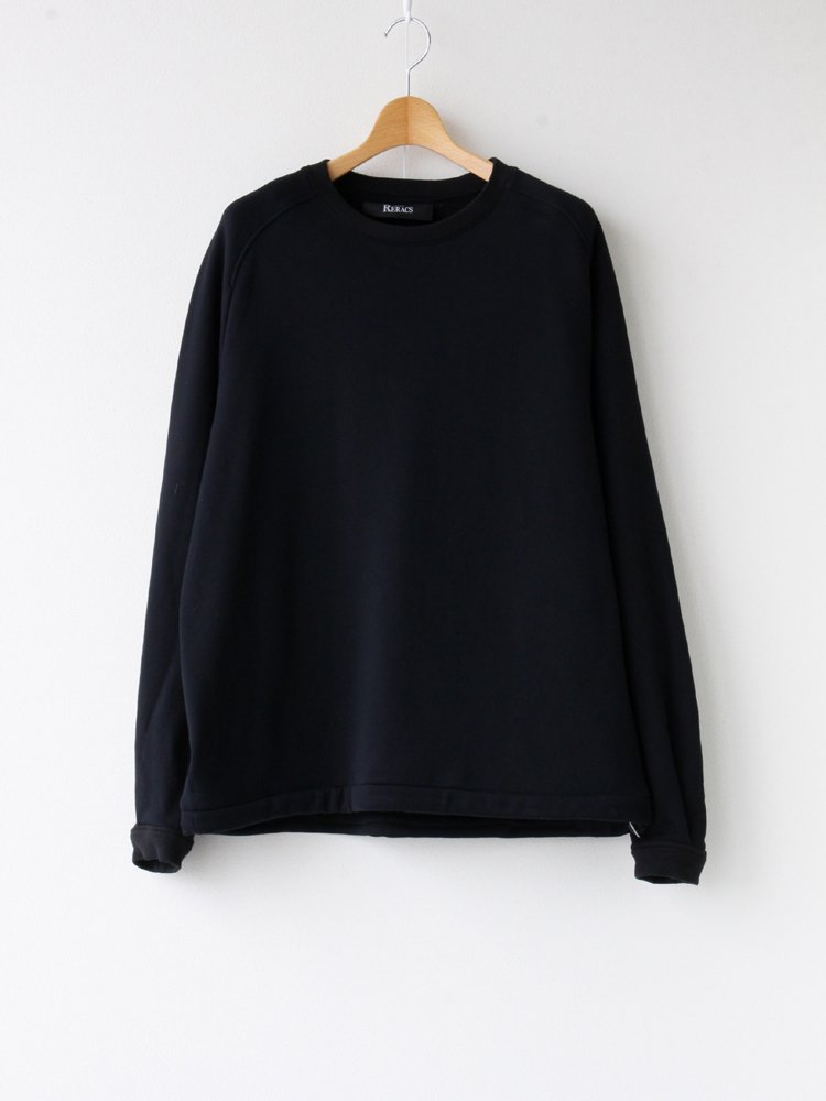 THE RERACS|RERACS RAGLAN CREW NECK PO #BLACK [20FW-RECS-274-J]