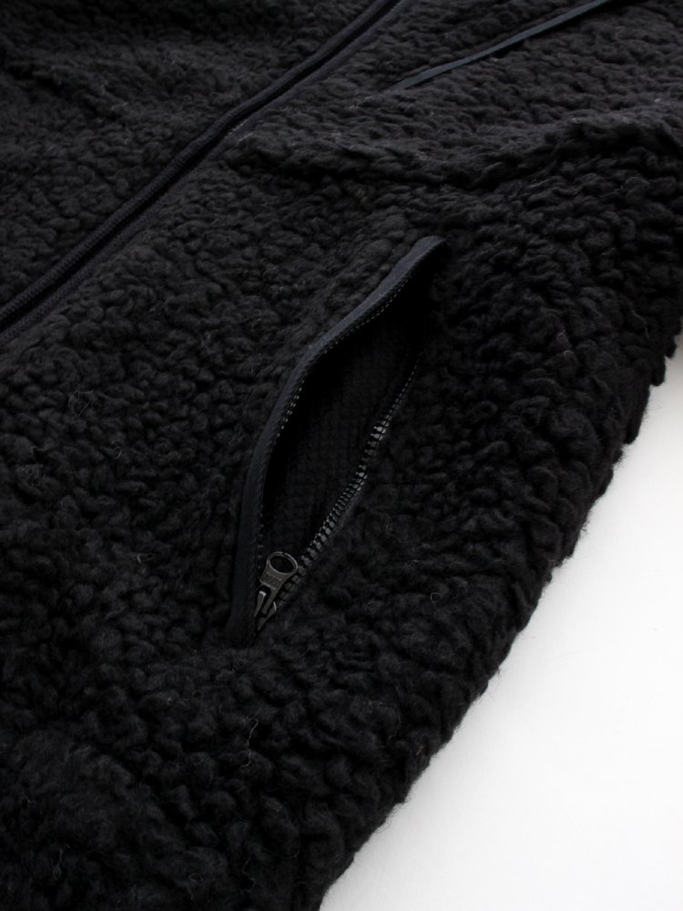 WOOL BOA FLEECE FIELD JACKET #BLACK [NA2051N ]