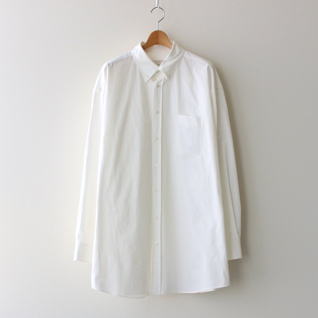 Maison Margiela |COTTON POPELINE OVER FIT SHIRT #WHITE [S30DL0481]